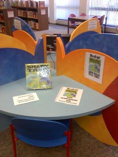 """So I decided to create a Story Action Pod based on a book that kids could use to make an informed opinion in one sitting: Shark vs Train by Chris Barton and Tom Lichtenheld. ... As always, I set up the book with directions for voting and the ballot (located below for easy download).  Then, my coworker created some awesome ""I Voted Today"" stickers. Suddenly, this idea had a trifecta of Kid Friendly Things:  1) Sharks  2) Trains  3) Stickers"""