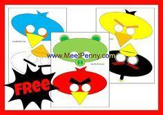FREE printable angry birds masks