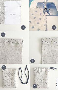 Iniciación a la costura: bolsa diy bonitista - Best Sewing Tips Sewing Hacks, Sewing Tutorials, Sewing Patterns, Sewing Tips, Fabric Crafts, Sewing Crafts, Sewing Projects, Diy Projects, Pochette Diy