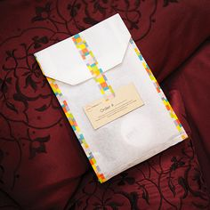 Washi Tape Paper Bag with MT Mosaic Bright Washi Tape