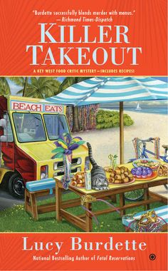 NEW COVER for author @LucyBurdette KILLER TAKEOUT, author of FATAL RESERVATIONS