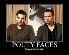 Zachary Quinto Pouty FACE!!