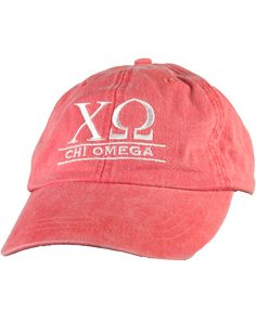 Chi Omega Hat by Adam Block Design | Custom Greek Apparel & Sorority Clothes | www.adamblockdesign.com