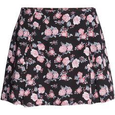 H&M Patterned skirt ($5.13) ❤ liked on Polyvore featuring skirts, bottoms, saias, faldas, h&m skirts, box pleat skirt, rayon skirt, print skirt and elastic waist skirt