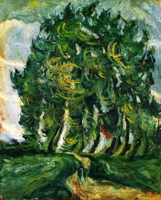 wetreesinart:  Chaim Soutine (Russ. 1893-1943), Trees at Auxerre, circa 1939, oil on canvas, 73cm x 60cm, private collection