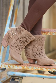 NAUGHTY MONKEY Lyrics Booties - Taupe from Closet Candy Boutique