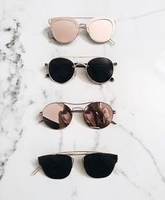 where can i find sunglasses like those rose gold top ones?