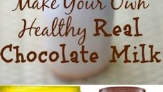 Make Your Own Healthy Real Chocolate Milk