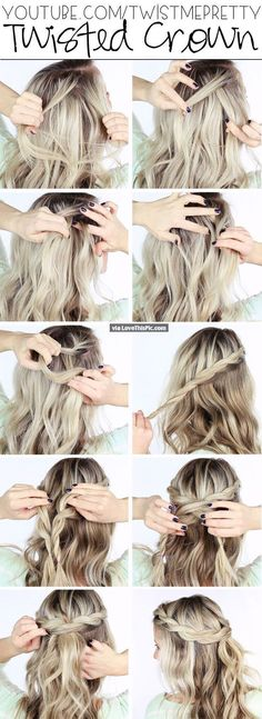 Twisted Crown Hairstyle Pictures, Photos, and Images for Facebook, Tumblr, Pinterest, and Twitter
