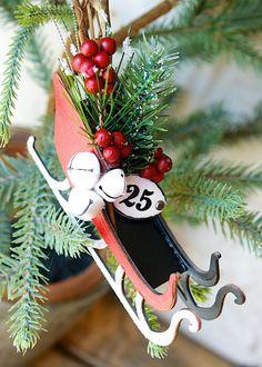 Sleigh Ride Ornament by Hilary Kanwischer