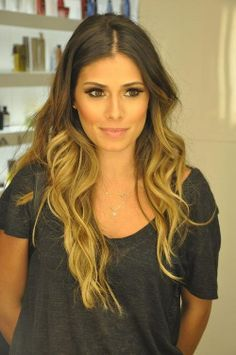 ombre | Pretty long ombre hairstyle. Plus her eyes are beautiful;
