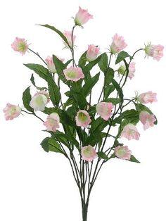 219 best silk flowers images on pinterest artificial flowers art campanula silk flower bush in soft pink 26in tall cheap flowers fake flowers mightylinksfo