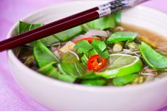 Asian Noodle Soup #vegetarian #vegan