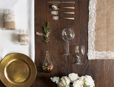 #Burlap and #Lace #bohemian #wedding #tablescape grid!