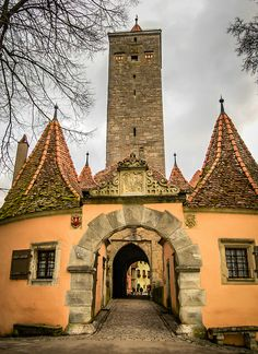 Rothenburg ob der Tauber Germany - Town Gate and Walls with Tower | Flickr - Photo Sharing!