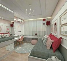 Teen Girl Bedrooms - incredibly super sweet teen girl room tips and tricks. Hungry for other inspiring teen room styling designs please visit the pin to study the post idea 2440572225 immediately Bedroom Decor For Teen Girls, Teenage Girl Bedrooms, Girl Bedroom Designs, Teen Bedroom Colors, Trendy Bedroom, Colorful Teen Bedrooms, Girl Rooms, Bedroom Themes, Design Bedroom