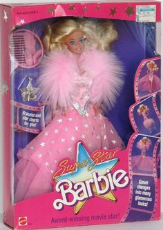 SuperStar Barbie - she was my first real Barbie and my dad pulled her hair straight when he got her out of the box for me; I liked it a lot more that way...