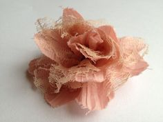 Flower Hair Clip  Pink by Lilica on Etsy, $5.00