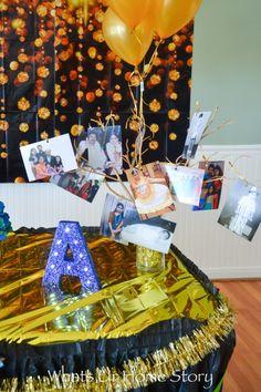 Milestone birthday party decor -photo tree