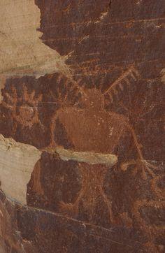 Petroglyphs in Desolation Canyon.
