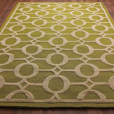 Indoor Outdoor Carved Ellipse Rug: 4 Colors - Shades of Light