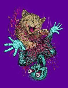 ... psychedelic art tattoos artsy fartsy products zombie cat tattoo