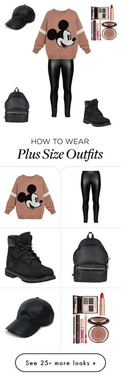 """Untitled #209"" by cjepersonal on Polyvore featuring Studio, Timberland, Yves Saint Laurent, Vianel and Charlotte Tilbury"