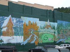 Garvin Gardens mural | Flickr - Photo Sharing! Arkansas Mountains, Garden Mural, Gardens, Explore, Places, Outdoor Gardens, Garden, House Gardens, Lugares