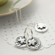 Little Storm Cloud Earrings by greenriverstudio on Etsy, £39.00
