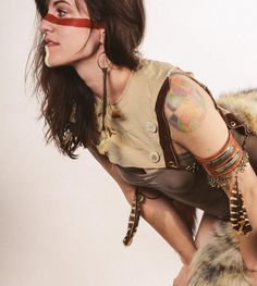 Handmade Leather and Feather Arm Band - Post Apocalyptic Primitive Native Woodland on Etsy, $84.00