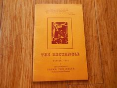 1937 SIGMA TAU DELTA The Rectangle Honorary English Society 48 pages Booklet