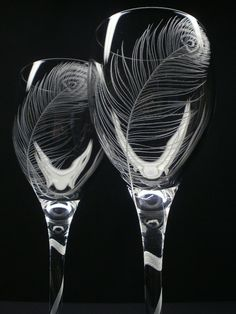 hand engraved crystal wine glasses