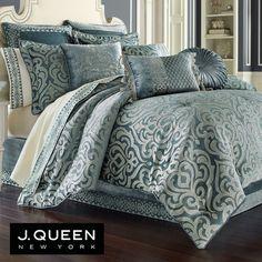 2544ef1526e9 Sicily Teal Medallion Comforter Bedding by J Queen New York Teal Comforter