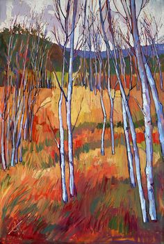 Aspens Painting Painting - Aspens At Zion by Erin Hanson