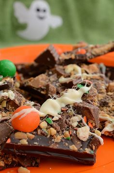 Halloween Candy Bark by Pennies on a Platter, via Flickr