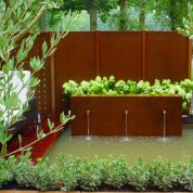 Beautiful Garden Landscape Design Stones And Metal Curved Garden Walls Landscape Pinterest