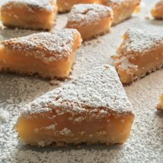 A sweet and mellow flavored citrus bar made with the juice of blood oranges and Meyer lemons. Cookie Desserts, Just Desserts, Cookie Recipes, Delicious Desserts, Dessert Recipes, Savory Snacks, Cookies, Vintage Recipes, Dessert Bars