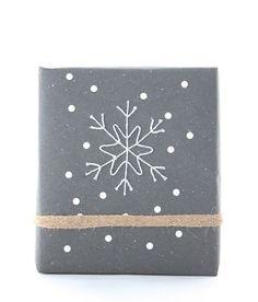 DIY Bakers Twine Snowflake On Christmas Present