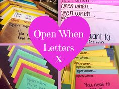 Open When Letters Do you want to surprise the one you love this Valentine's Day but don't want to spend a fortune? Why not create an open when box! Don't forget to like our Facebo…