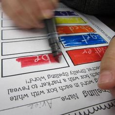 write speech in white crayon then color over it with a marker to reveal the 'secret' word.