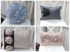 Great assortment of pillows from tatertotsandjello blogspot by marina