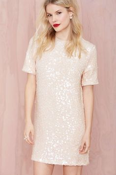 Motel Icy Sally Sequin Dress