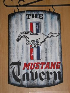Classic Ford MUSTANG Tavern Sign  Muscle Car Pub by ASignOfWonder