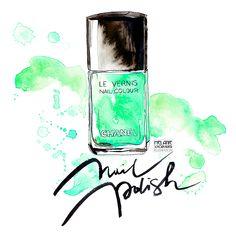 green nail polish illustration watercolor and ink Green Nail Polish, Green Nails, Watercolor And Ink, Watercolor Illustration, Make Up, Illustrations, Polish, Nail Polishes, Green Toe Nails