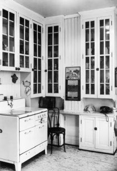 Vintage kitchen. Interior view of the kitchen at the John Albert Ferguson house at 700 Washington Street in the Capitol Hill neighborhood of Denver, Colorado - 1948