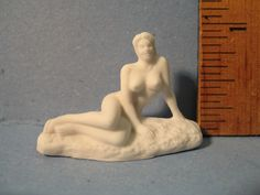 Tiny FEMALE NUDE Artist's Model Statue Art Museum White Sculpture Porcelain  - French Feve Feves Doll House Figurine Miniatures W11 by ValueARTifacts on Etsy https://www.etsy.com/listing/231944941/tiny-female-nude-artists-model-statue