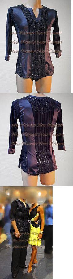 Tops Shirts 152367: M388 Men Latin Rhythm Salsa Ballroom Dance Shirt Size Xl Black Sleeve Crystals -> BUY IT NOW ONLY: $139.99 on eBay!