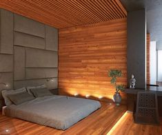 Stylish Interior Design — Office Apartment by Soesthetic Group Minimalist Bedroom, Minimalist Home, Modern Bedroom, Chic Apartment Decor, Apartment Design, Asian Inspired Bedroom, Thai Decor, Guest Room Decor, Cozy Bedroom