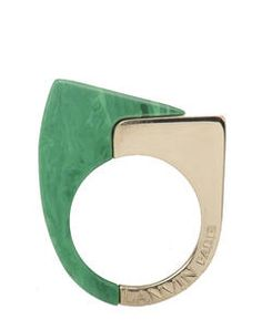 Lanvin ; Abstract Deco Ring