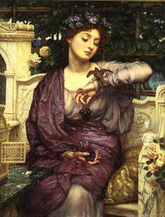 Sir Edward John Poynter - Lesbia and her Sparrow